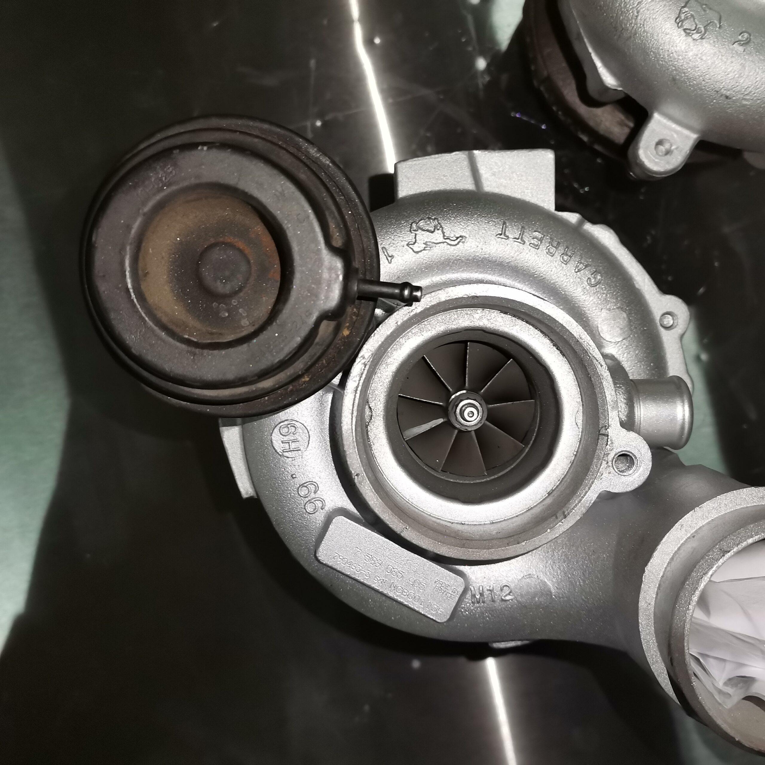 Фото турбины после ремонта для BMW X5 M E70 4.4