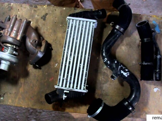 Интеркулер и новые патрубки для установки турбины на атмосферный мотор